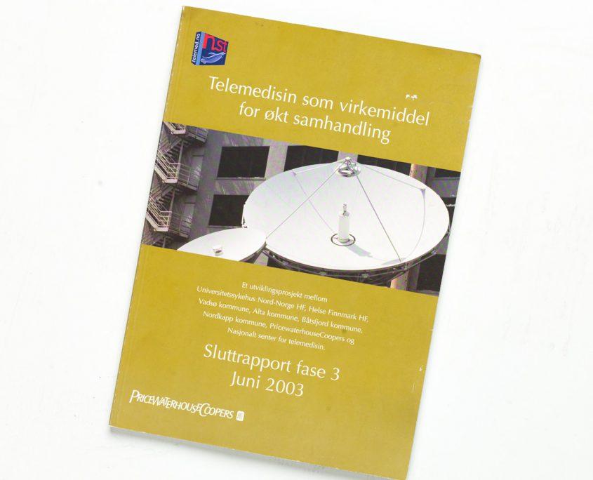 Omslag av rapport om Telemedisin for PwC